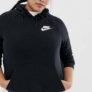 Rally Hoodie by Nike Plus in black